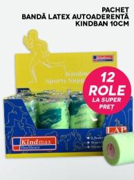 Pachet Bandă latex autoaderentă Kindban 10cm